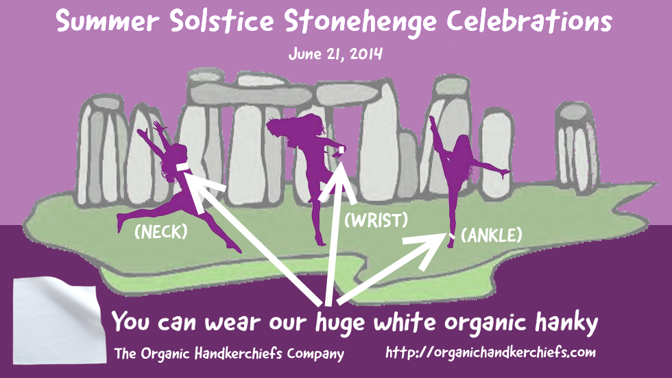 How to wear a Huge Organic Hanky for Summer Solstice Infographic