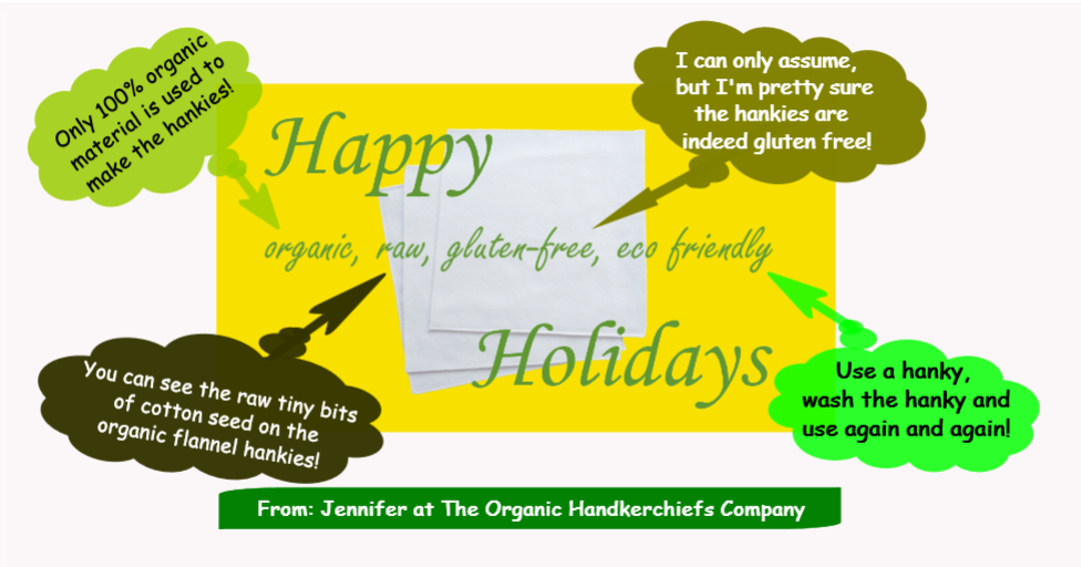 Happy Organic Raw Gluten Free Eco Friendly Holidays Infographic