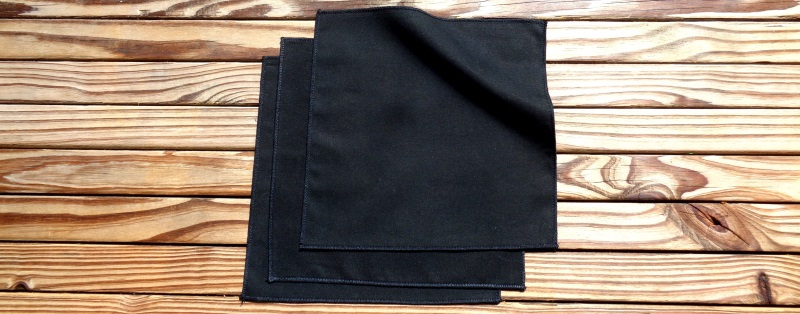 Black Organic Cotton Handkerchiefs