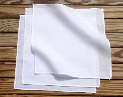 White Organic Cotton Handkerchiefs