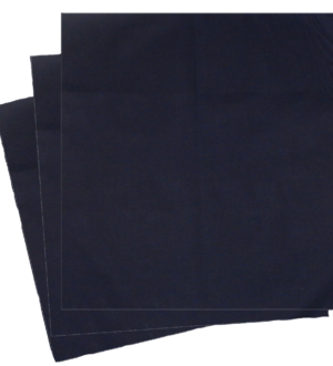 Large Navy Colored Organic Cotton Handkerchiefs Large Navy Colored Organic Handkerchiefs