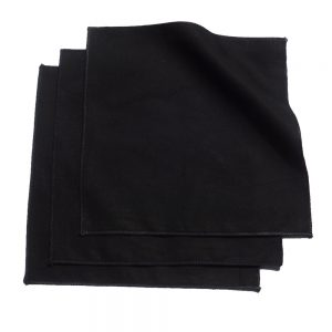 Medium Black Organic Cotton Handkerchiefs New Product